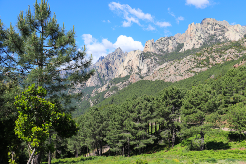 The vew at Col de Bavella mountains in Corsica