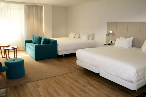A suite at NH Amsterdam Centre hotel