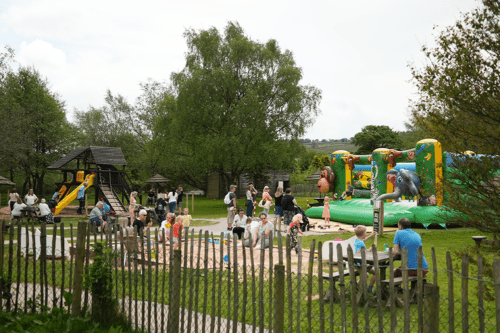 An outdoor play area at Peak Wildlife Park