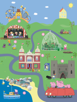 Peppa Pig and Visit England map
