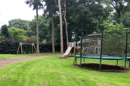 Play area at Abbeywood Estate in Delamere, Cheshire