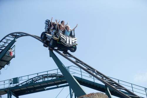A rollercoaster at Legoland Billund