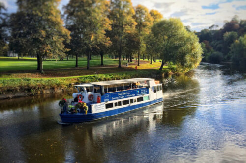 The Sabrina Boat on the river in Shropshire
