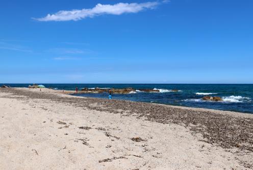 Scaffa Rossa Beach in Solenzara, Corsica