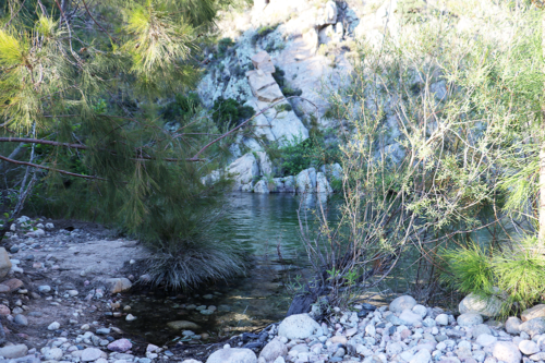 The river at Sole di Sari in Corsica