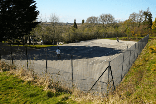 Tennis court at The Valley, Truro, Cornwall