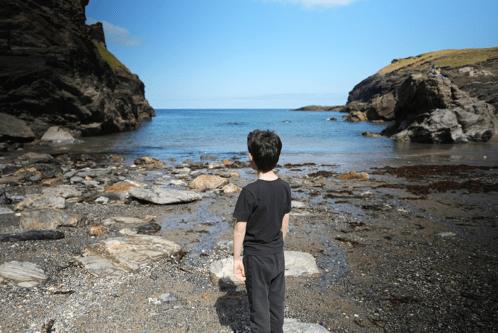 Tintagel Castle beach
