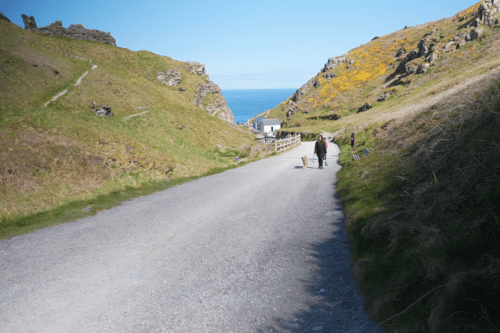 Steep road at Tintagel Castle
