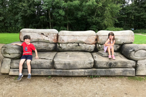 A wooden seat at Tittesworth Reservoir
